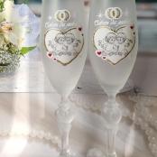 свадебные бокалы белые с ангелочками фото