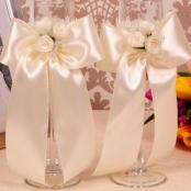 свадебные бокалы айвори фото