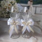 свадебные бокалы белый айвори продамсегодня 11:26