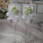мятные свадебныебокалыфото