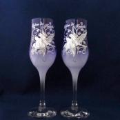 фиолетовые свадбные бокалы фото