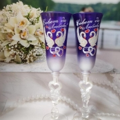 бокалы на свадьбу фиолетовые фото