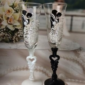 свадебные бокалы фото