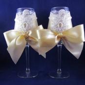 свадебные бокалы айвори купить