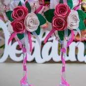свадебные бокалы розовые ручной работы