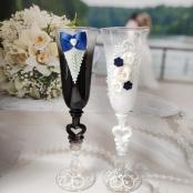жних и невеста синие фото