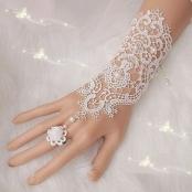 свадебные перчатки кружевные купить