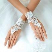 свадебные перчатки кружево купить