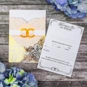 свадебное приглашение бежево-персиковое