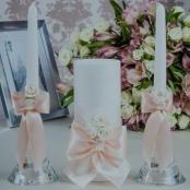 свечи свадьба айвори