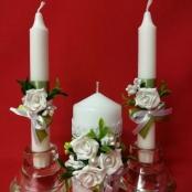 свадебные свечи фисташковые купить