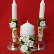 сваденые свечи оливковые фото