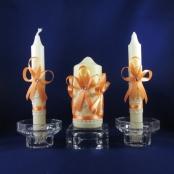 свадебные свечи персиковые купить