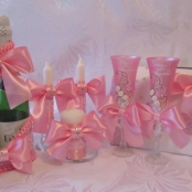 розовый набор на свадьбу фото