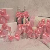 розовые свадебные наборы из лент тут