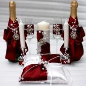 свадебный набор бордовый купить