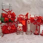 красно-белые свадебные наборы фото