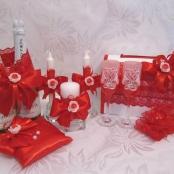 красный свадебный декор фото