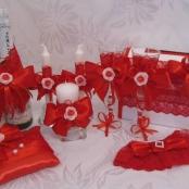оформление свадьбы в красном цвете фото