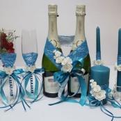 бирюзовый набор на свадьбу фото