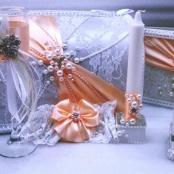 свадебный набор персиковый фото