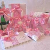 свадебные наборы розовые тут