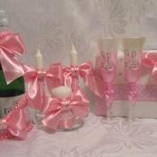 свадебный наборы розовый фото