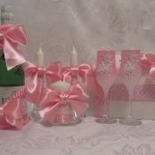 розовые свадебные наборы фото тут