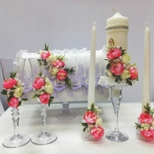 свадебные украшения с пионами