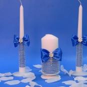 свечи очаг синие купить