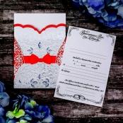 красный свадебный пригласительный купить