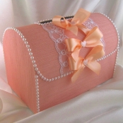 персиковые коробки на свадьбу фото