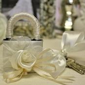 свадебный замочек айвори