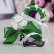 свадебный замочек зеленый
