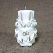 свеча резная витая белая купить