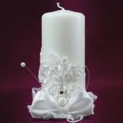свеча очаг белая фото