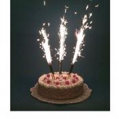 свечи фейерверки на торт фото