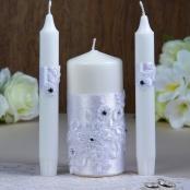 свечи очаг белые кружевные фото