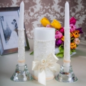 свечи очаг бежевые фото