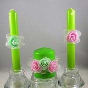 мятно-розовые свечи семейный очаг купить