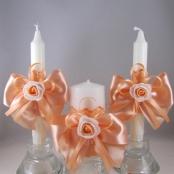 свечи очаг персиковые купить