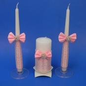 свечи очаг розовые с жемчугом фото