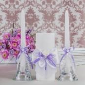 свечи нежно-сиреневые купить