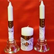 свечи очаг коричневые фото