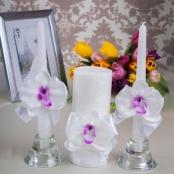 свадебные аксессуары с белыми орхидеями