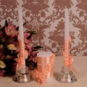 свечи очаг персик