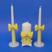 желтые свадебные свечи фото