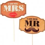 мистер и миссис набор для фотосессии