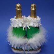 корзиночка с пухом для шампанского