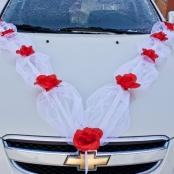 лента на капот машины свадебная